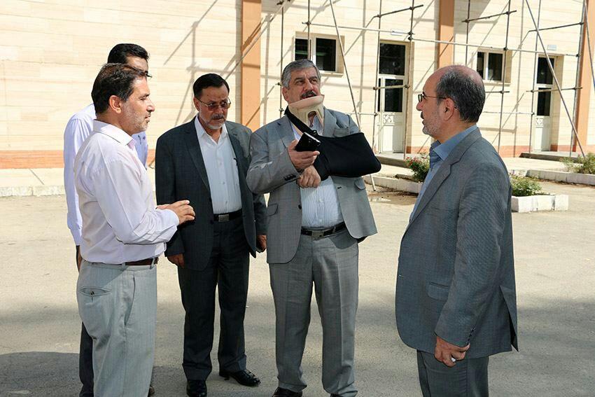 بازدید دکتر آقازاده از محل افتتاحیه المپیاد دانشجویان دختر دانشگاههای علوم پزشکی